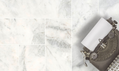 Carrara White Polished Marble Tiles