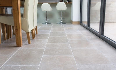 Moleanos Blue-Mix Brushed Limestone Tiles