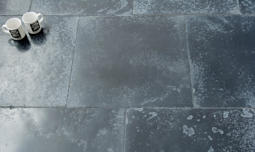 Oasis Black Historical Limestone Tiles 600XFLx20mm