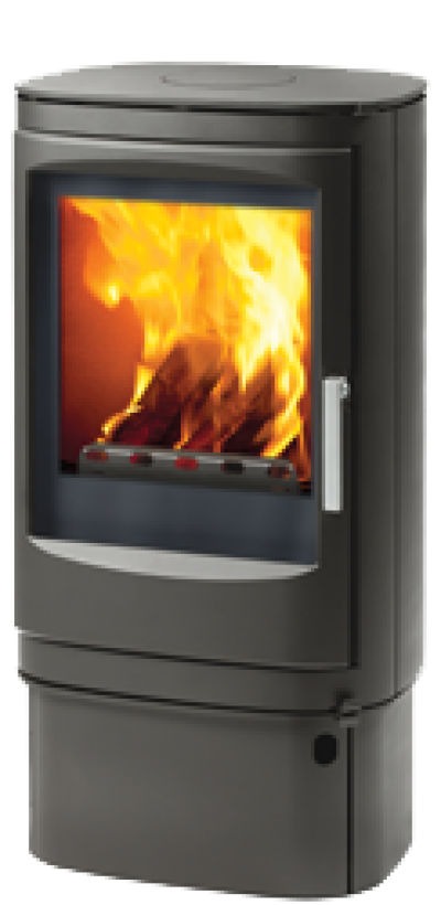 Varde Fuego 1 Black High Base Woodburning Stove