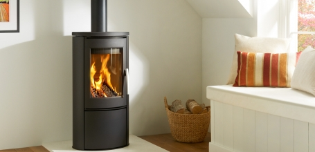 Shape 2 Black Woodburning Stove